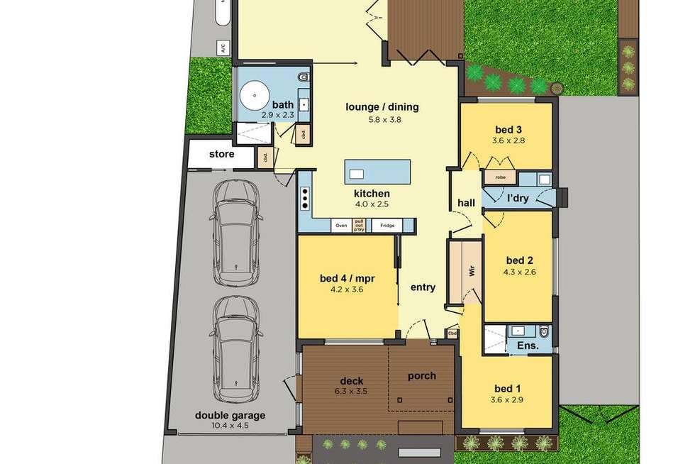 Floorplan of Homely house listing, 4 Stradbroke Crescent, Mulgrave VIC 3170