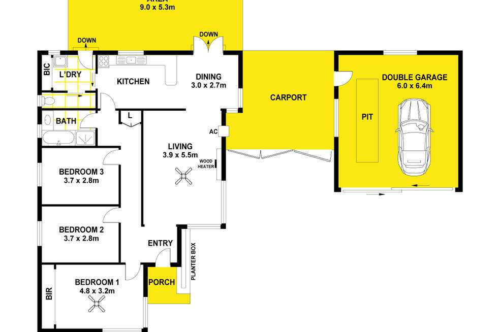 Floorplan of Homely house listing, 33 Jordan Drive, Morphett Vale SA 5162
