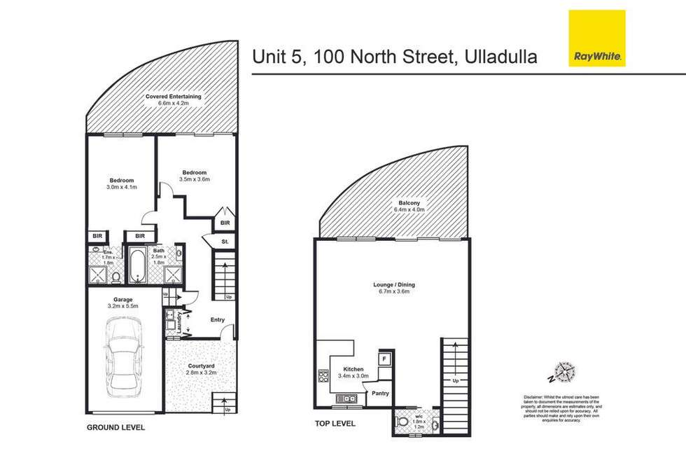 Floorplan of Homely townhouse listing, 5/98-100 North Street, Ulladulla NSW 2539