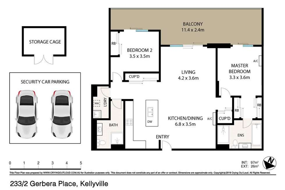 Floorplan of Homely apartment listing, 233/2 Gerbera Place, Kellyville NSW 2155