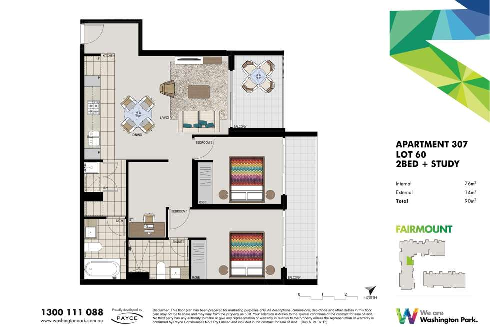 Floorplan of Homely apartment listing, 307/1 Vermont Crescent, Riverwood NSW 2210