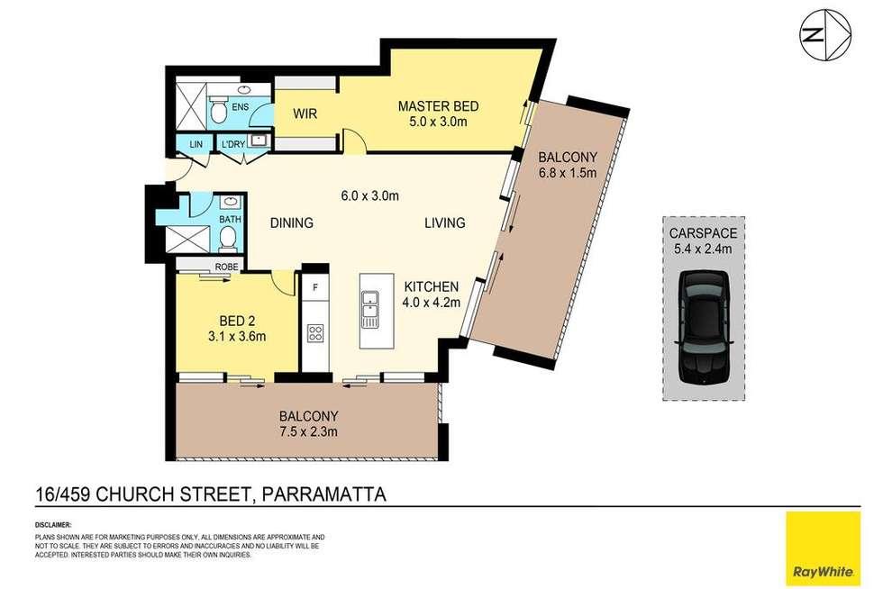 Floorplan of Homely apartment listing, 16/459-463 Church Street, Parramatta NSW 2150