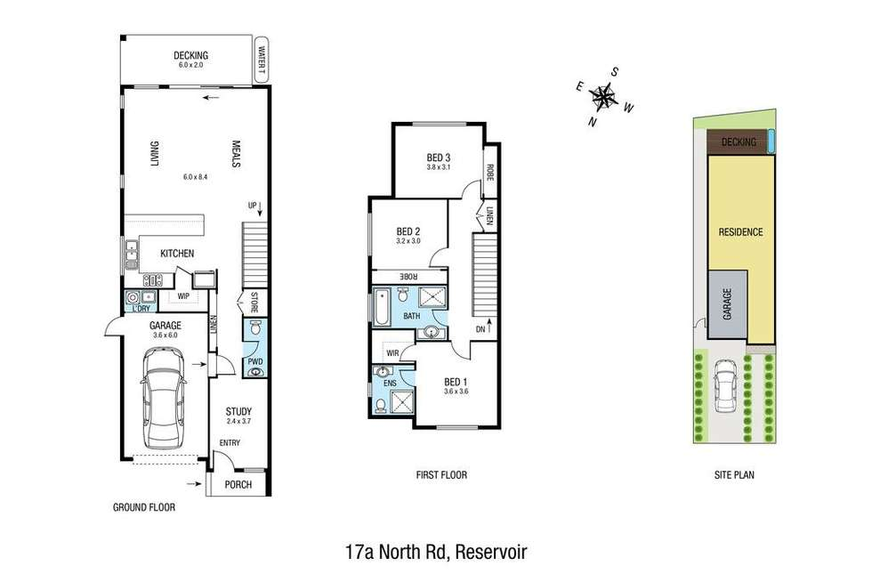 Floorplan of Homely house listing, 17A North Road, Reservoir VIC 3073