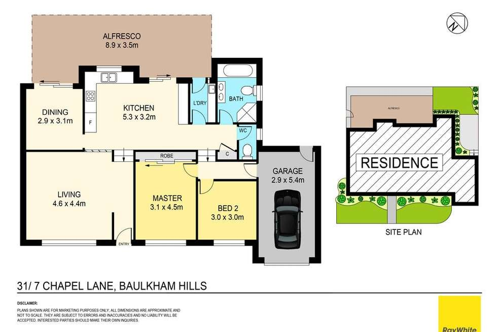 Floorplan of Homely townhouse listing, 31/7 Chapel Lane, Baulkham Hills NSW 2153