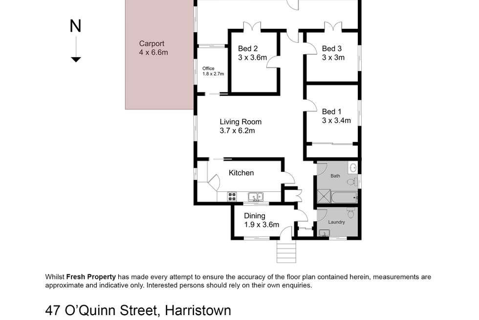 Floorplan of Homely house listing, 47 Oquinn Street, Harristown QLD 4350