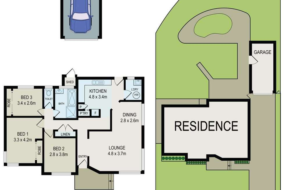 Floorplan of Homely house listing, 2 Handle Street, Bass Hill NSW 2197
