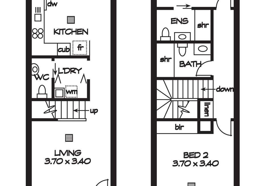 Floorplan of Homely townhouse listing, 6/8-10 Marcella Lane, Mawson Lakes SA 5095