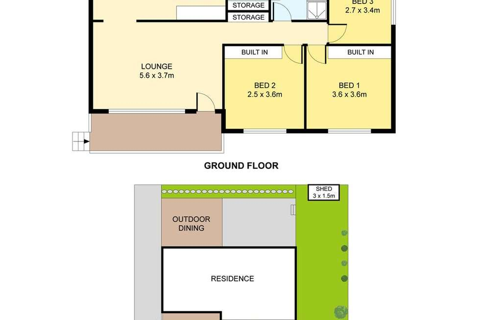 Floorplan of Homely house listing, 1/41 Empire Bay Drive, Kincumber NSW 2251
