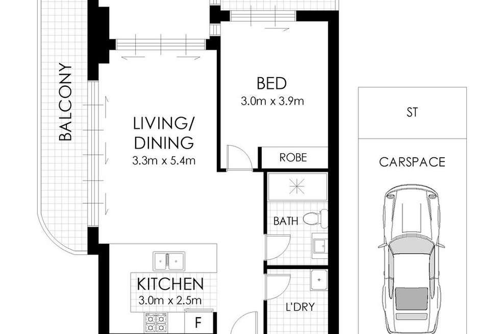 Floorplan of Homely apartment listing, 2203/42 Walker Street, Rhodes NSW 2138
