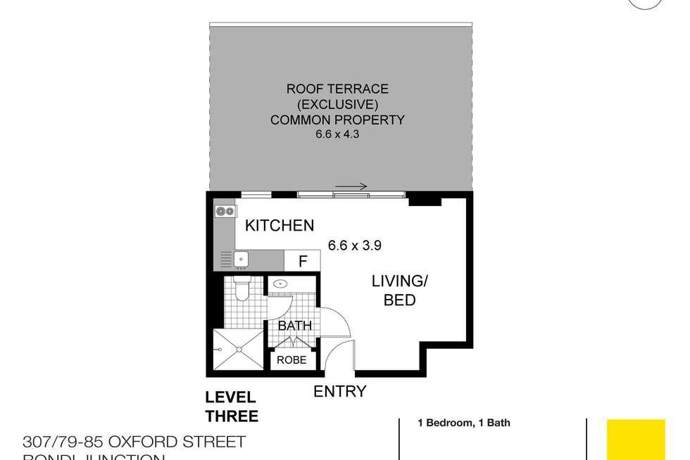 Floorplan of Homely apartment listing, 307/79 Oxford Street, Bondi Junction NSW 2022