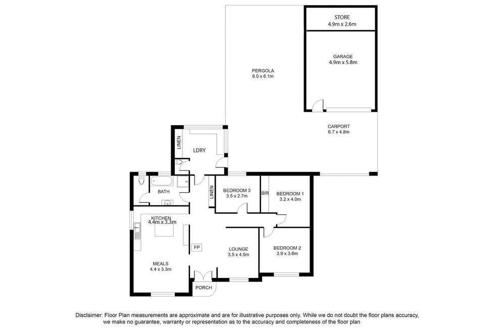 Floorplan of Homely house listing, 4 Shepherdson Road, Mount Gambier SA 5290