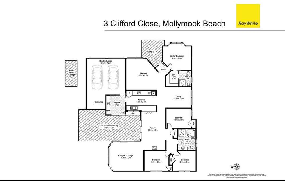Floorplan of Homely house listing, 3 Clifford Close, Mollymook NSW 2539