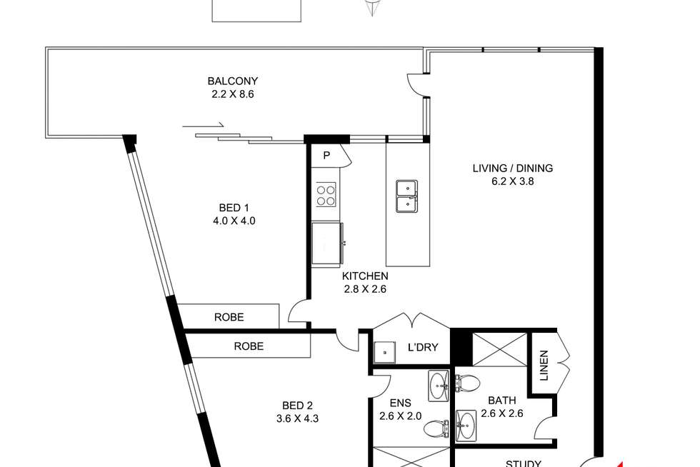 Floorplan of Homely apartment listing, d201/14J Mentmore Avenue, Rosebery NSW 2018