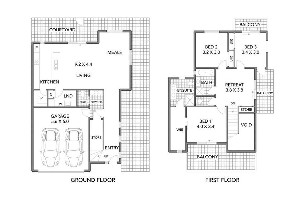 Floorplan of Homely house listing, 3/30 Cranwell Square, Caroline Springs VIC 3023