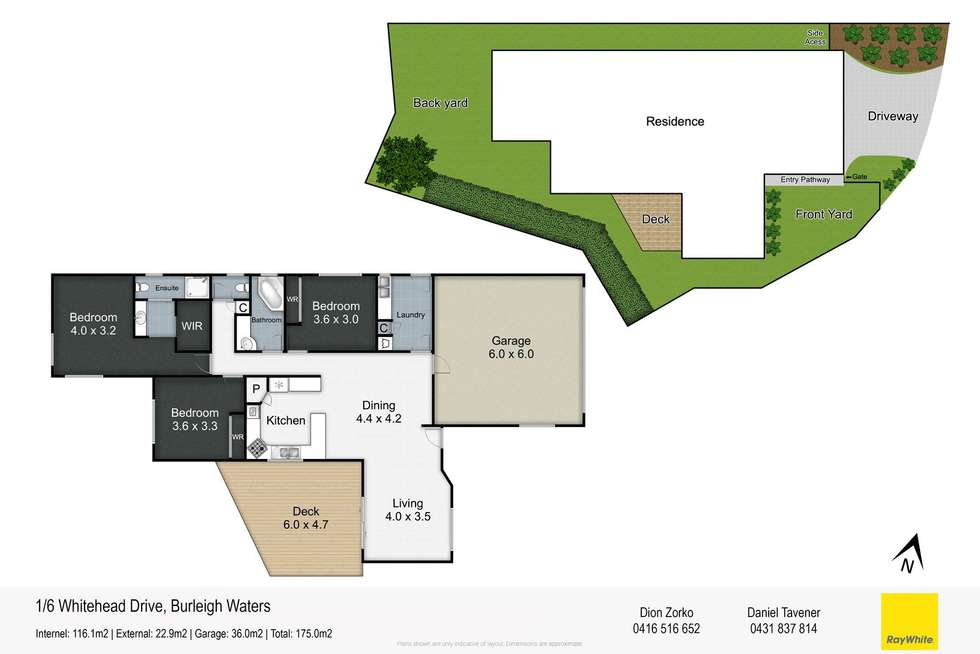 Floorplan of Homely house listing, 1/6 Whitehead Drive, Burleigh Waters QLD 4220