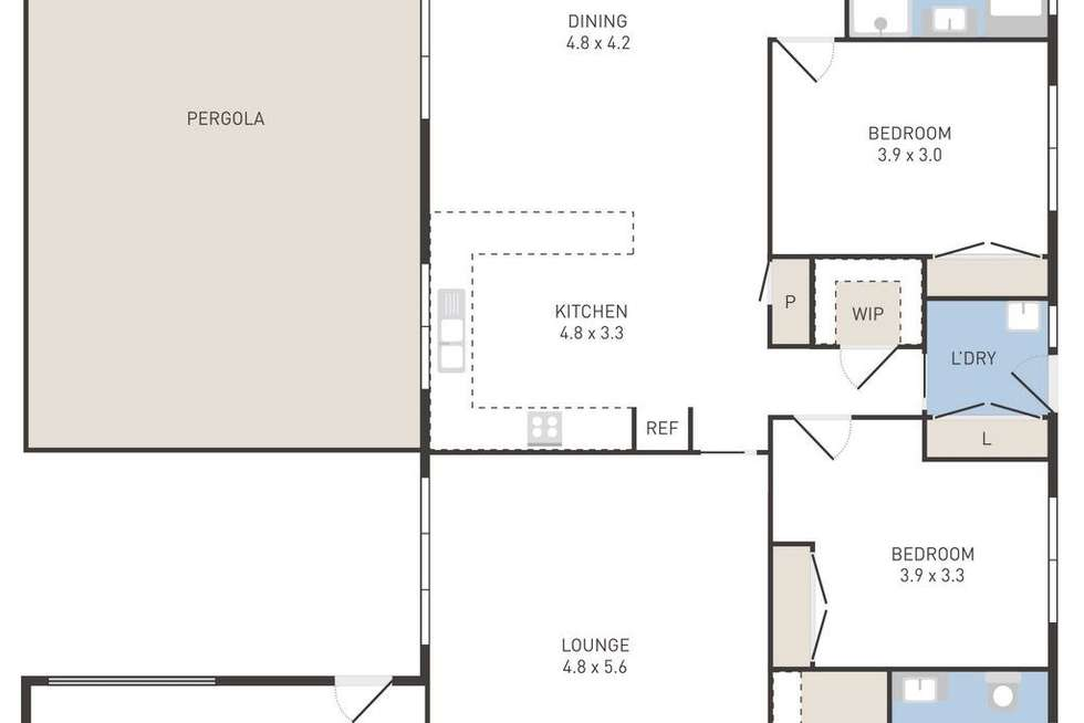 Floorplan of Homely house listing, 44 Eppalock Drive, Manor Lakes VIC 3024