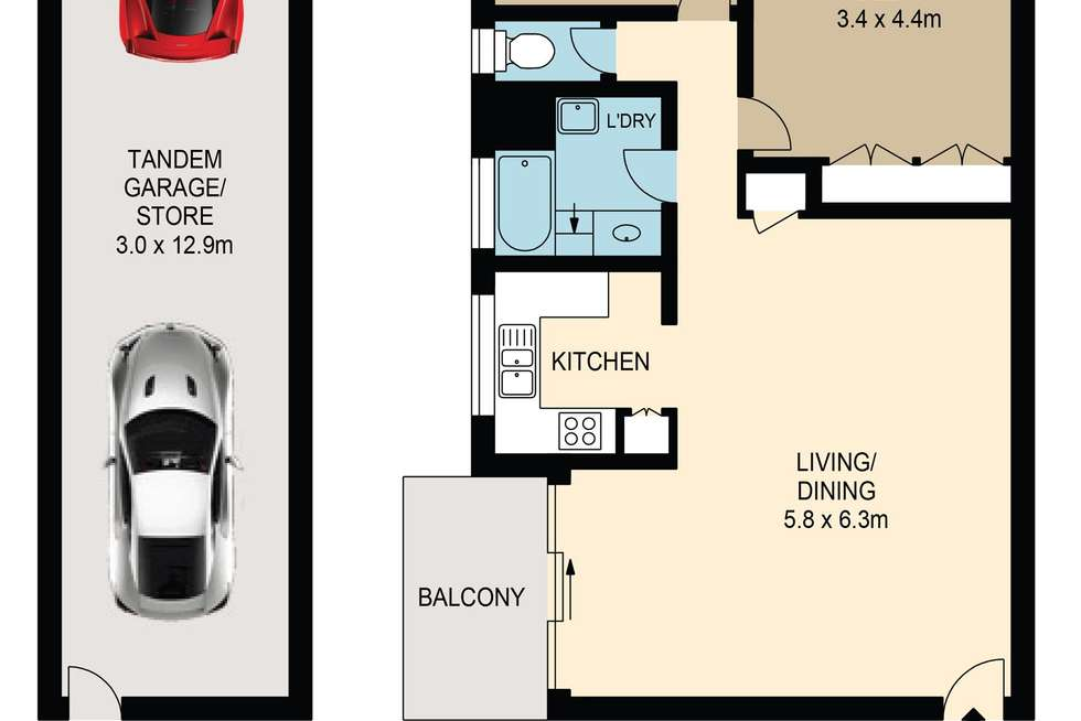 Floorplan of Homely apartment listing, 6/43-45 Dunmore Terrace, Auchenflower QLD 4066