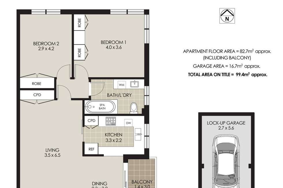 Floorplan of Homely apartment listing, 12/26 Bennett Street, Cremorne NSW 2090