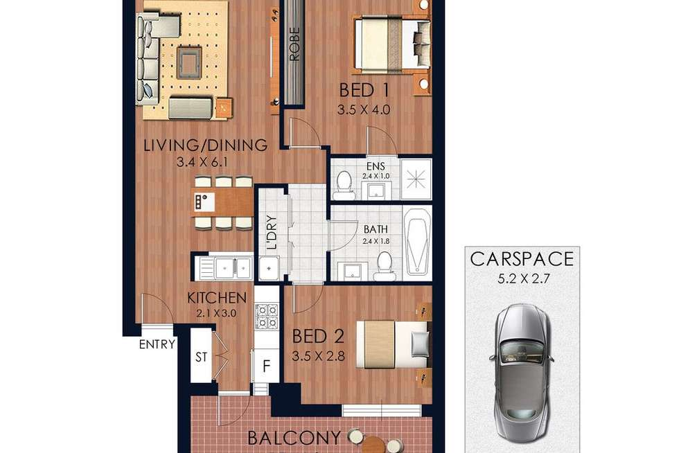 Floorplan of Homely apartment listing, 8/50-52 Anzac Parade, Kensington NSW 2033
