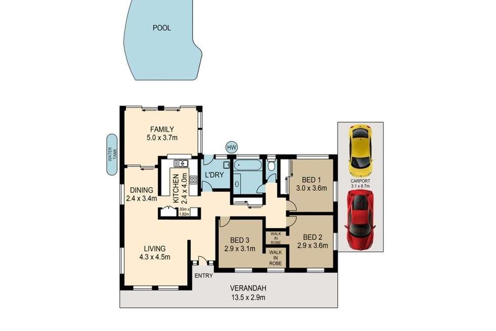 Floorplan of Homely house listing, 24 Samarai Street, Moggill QLD 4070