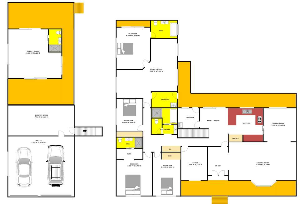 Floorplan of Homely house listing, 5 Elata Place, Kingswood NSW 2747