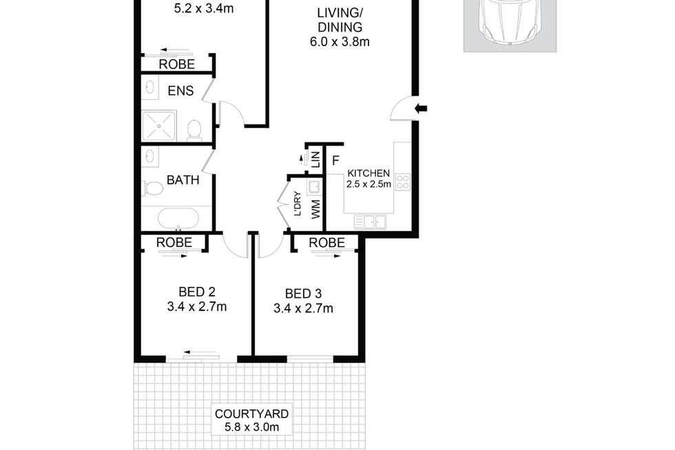 Floorplan of Homely apartment listing, 11/51A-53 High Street, Parramatta NSW 2150