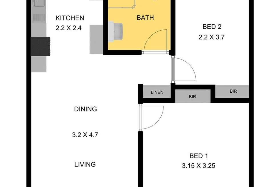 Floorplan of Homely unit listing, 3/36 Sturt Street, Glenelg North SA 5045