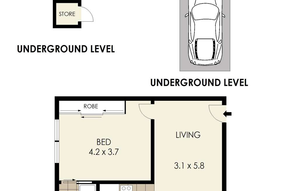 Floorplan of Homely apartment listing, 19/59 Lower Bent Street, Neutral Bay NSW 2089