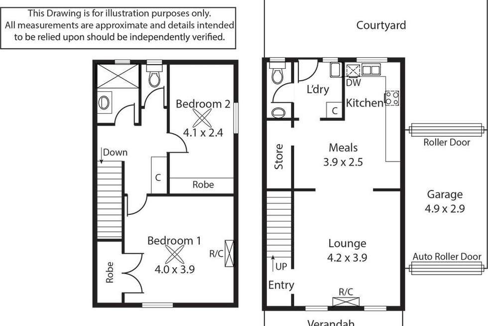 Floorplan of Homely townhouse listing, 7/38 Simcock Street, West Beach SA 5024