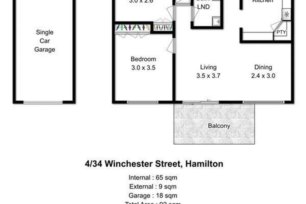 Floorplan of Homely apartment listing, 4/34 Winchester Street, Hamilton QLD 4007