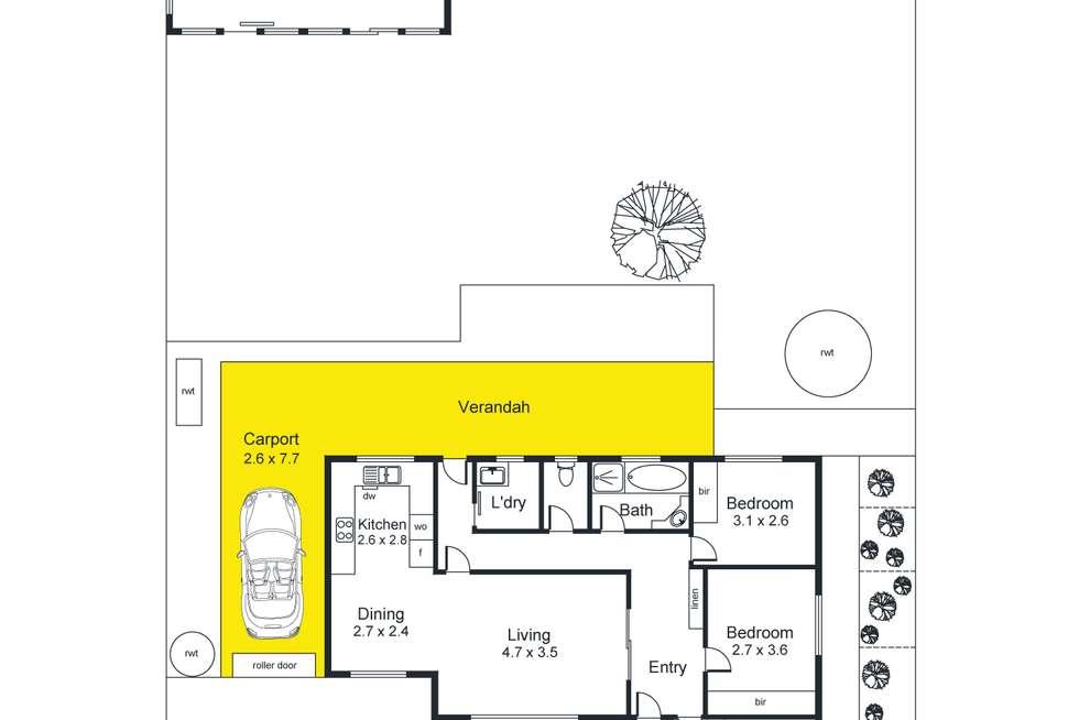 Floorplan of Homely house listing, 19 Wahratta Avenue, Morphett Vale SA 5162
