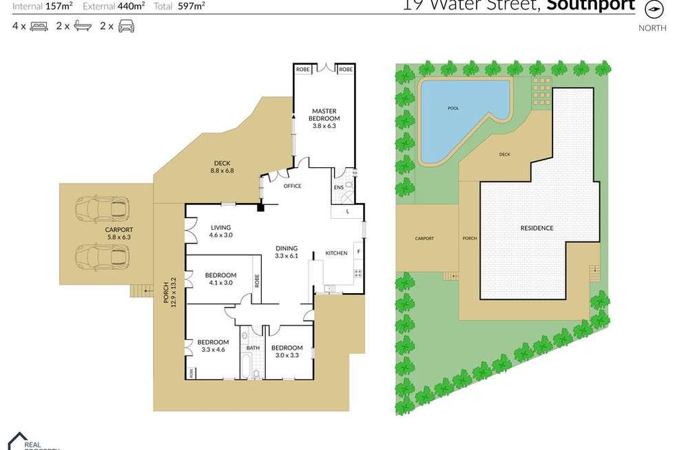 Floorplan of Homely house listing, 19 Water Street, Southport QLD 4215