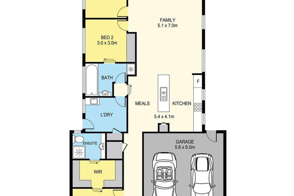 Floorplan of Homely unit listing, 1/54 Lomandra Bowl, Harkness VIC 3337