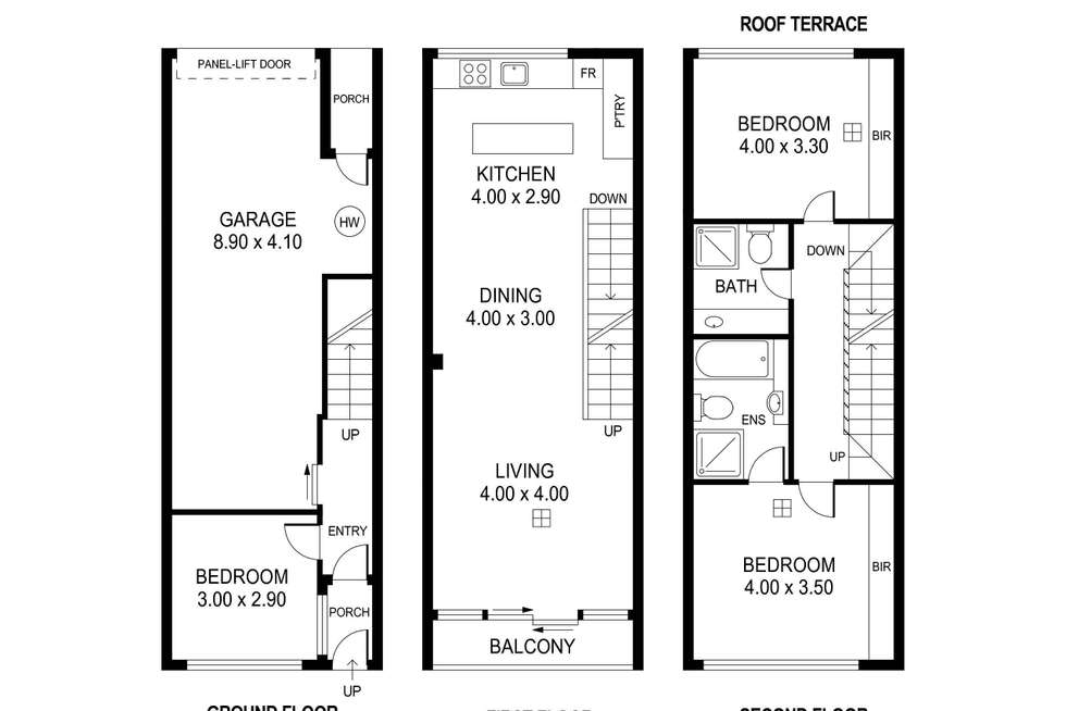 Floorplan of Homely townhouse listing, 127A Ifould Street, Adelaide SA 5000