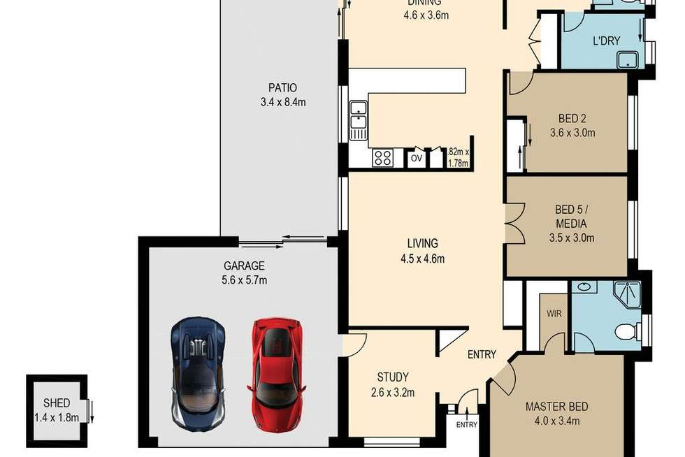 Floorplan of Homely house listing, 6 Sunningdale Street, Oxley QLD 4075