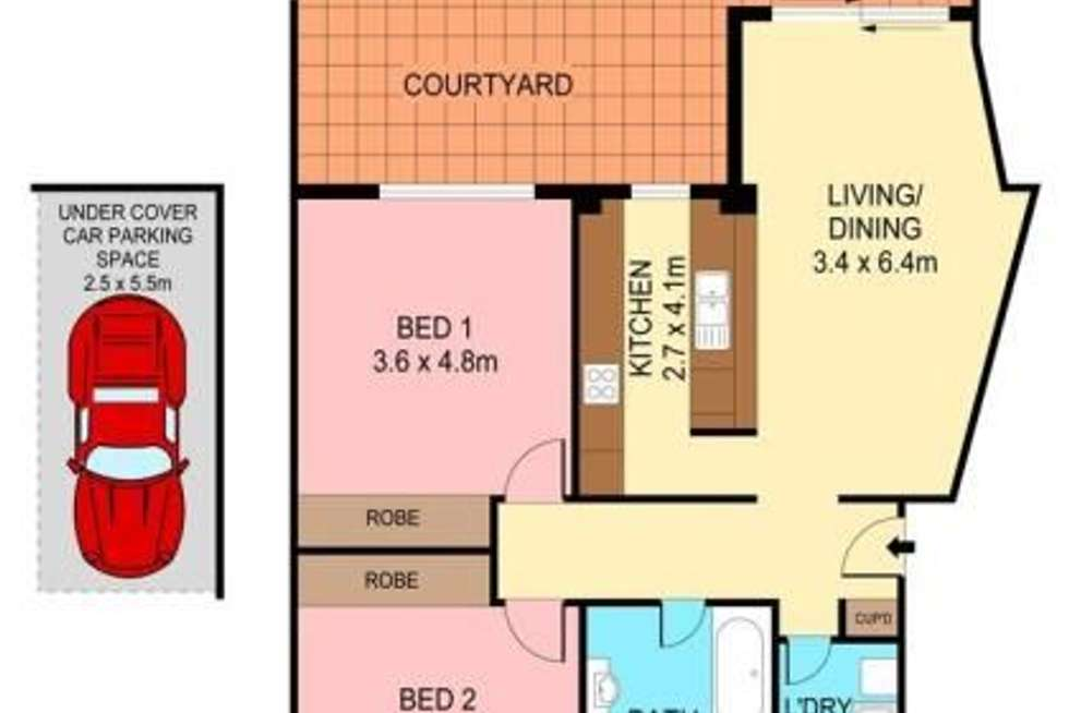 Floorplan of Homely apartment listing, 61/1-7 Gloucester Place, Kensington NSW 2033