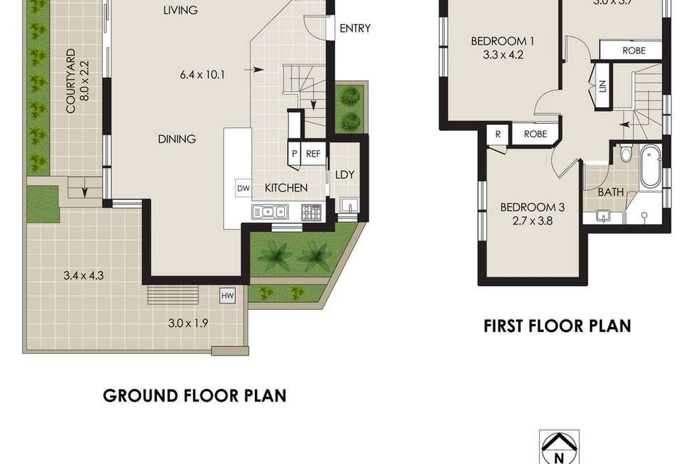 Floorplan of Homely townhouse listing, 3/2 Oaks Avenue, Cremorne NSW 2090