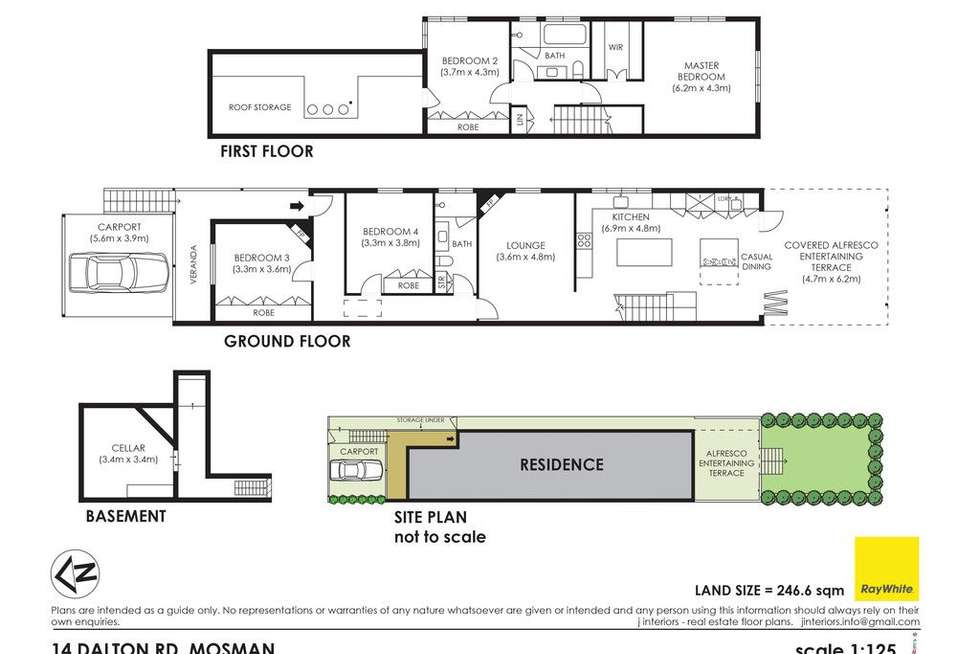 Floorplan of Homely house listing, 14 Dalton Road, Mosman NSW 2088