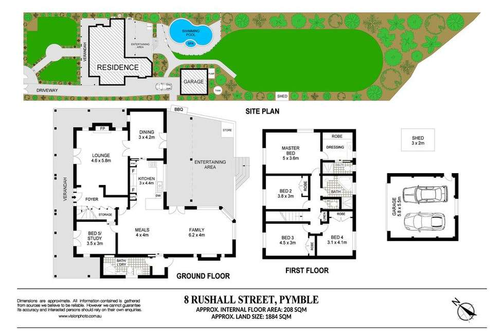 Floorplan of Homely house listing, 8 Rushall Street, Pymble NSW 2073