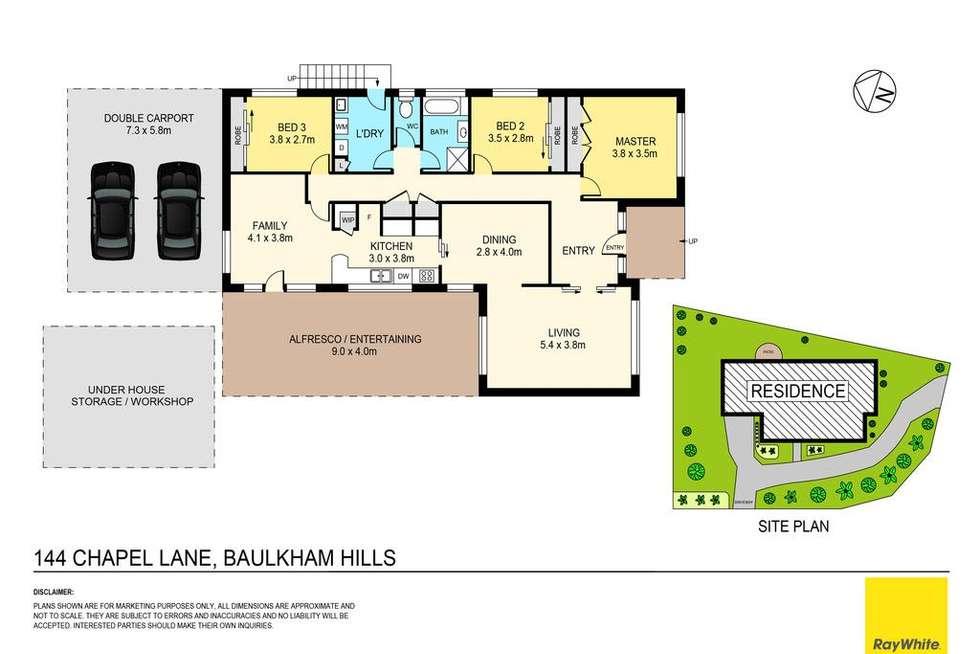 Floorplan of Homely house listing, 144 Chapel Lane, Baulkham Hills NSW 2153