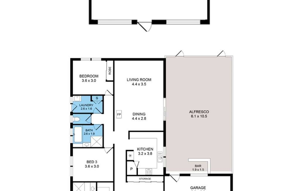 Floorplan of Homely house listing, 9 Stawell Street, Romsey VIC 3434