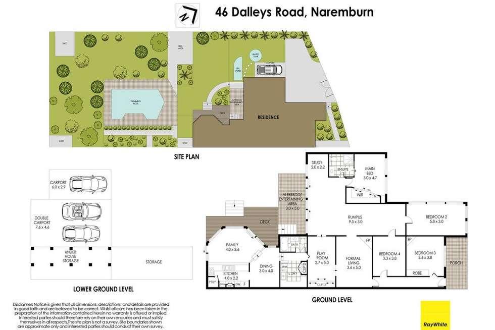 Floorplan of Homely house listing, 46 Dalleys Road, Naremburn NSW 2065