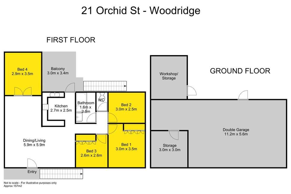 Floorplan of Homely house listing, 21 Orchid Street, Woodridge QLD 4114