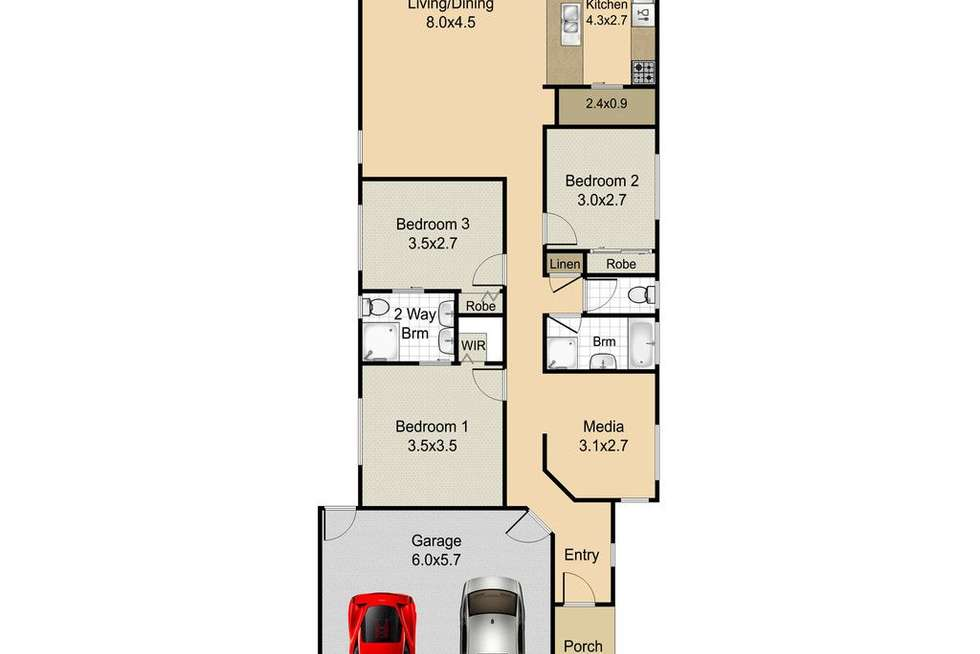 Floorplan of Homely house listing, 17 Chatham Street, Margate QLD 4019