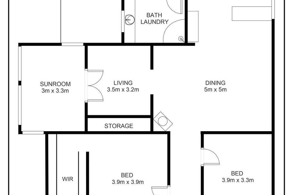 Floorplan of Homely house listing, 7 Little Street, Camperdown VIC 3260