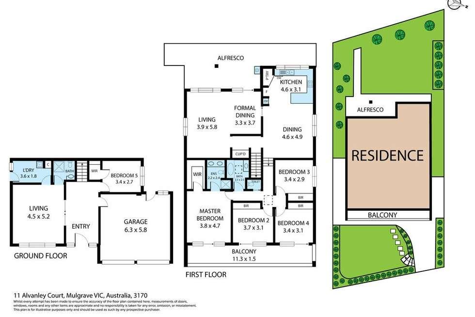 Floorplan of Homely house listing, 11 Alvanley Court, Mulgrave VIC 3170