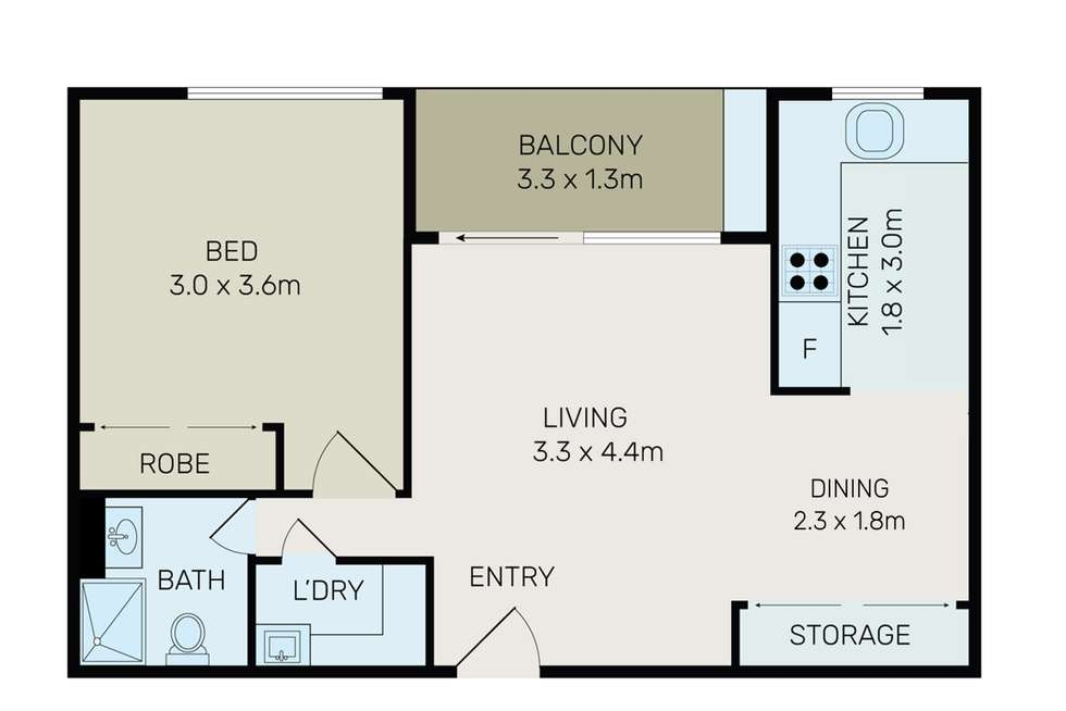 Floorplan of Homely apartment listing, 2J/15 Campbell Street, Parramatta NSW 2150