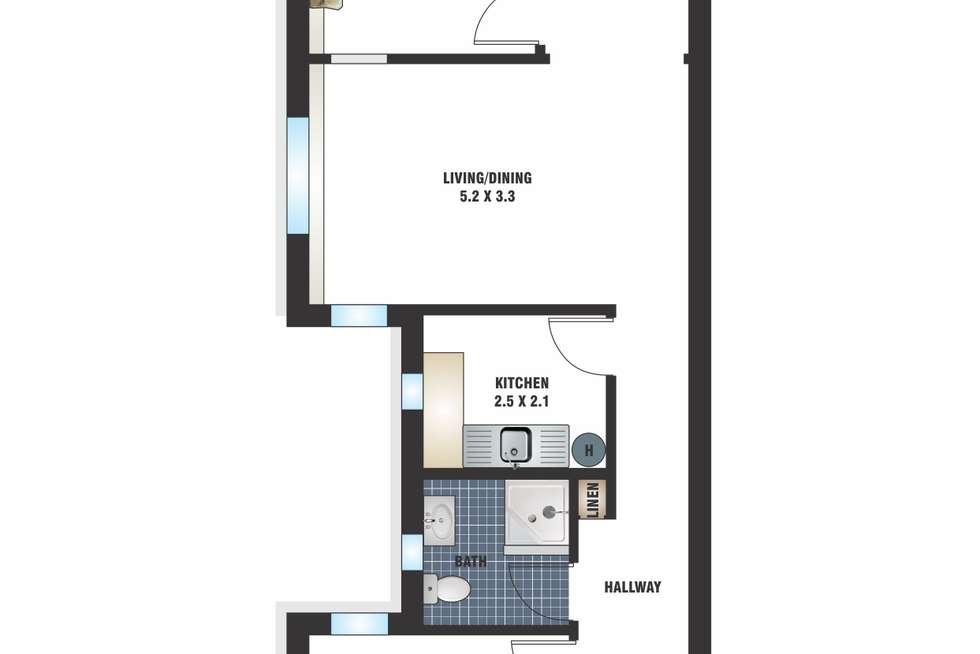 Floorplan of Homely apartment listing, 28/57 Darlinghurst Road, Potts Point NSW 2011