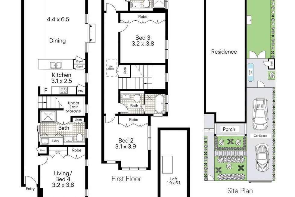 Floorplan of Homely house listing, 32B Orlando Avenue, Mosman NSW 2088
