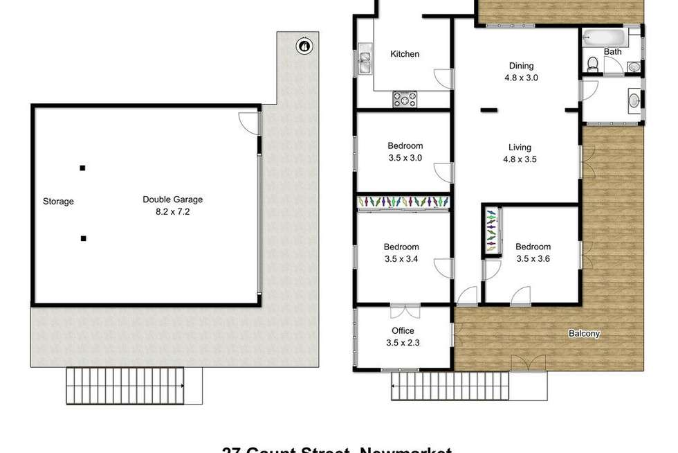 Floorplan of Homely house listing, 27 Gaunt Street, Newmarket QLD 4051